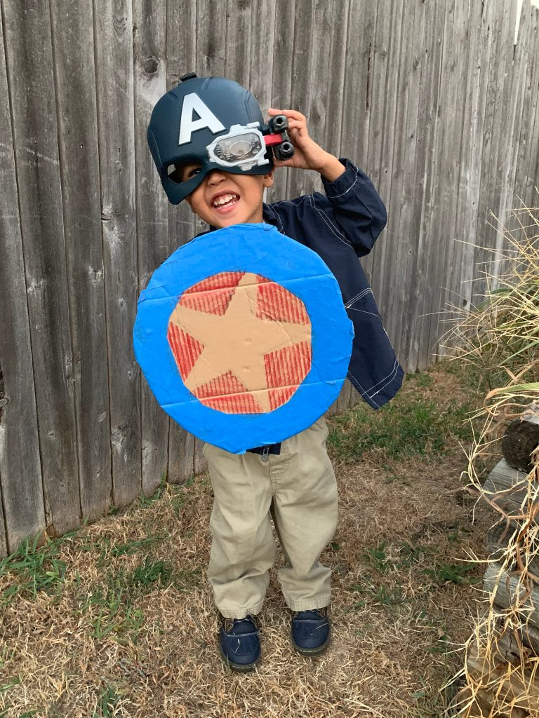 DIY Captain America costume - toddler Halloween costumes