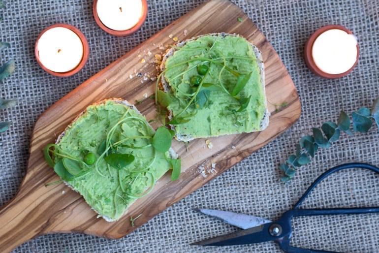 Erbsenhummus, kichererbsen aufstrich, Vegane Brotaufstriche, Vegane Aufstriche
