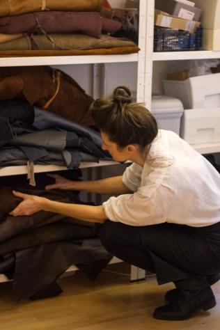 Maren Schenke bei der Arbeit