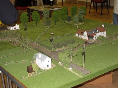 The British deployed from the left edge, the Germans from the far right