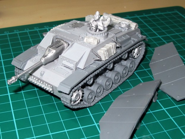 Metal and resin parts in the Warlord kit, with some resin stowage added.