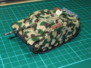 The camo pattern, still looking pretty rough at this stage
