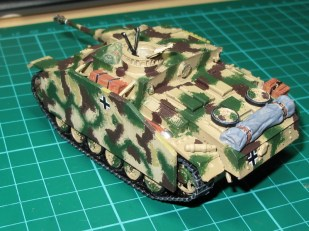 Painting this camo scheme by hand wasn't too labourious, but obviously an airbrush would do a better job quicker.