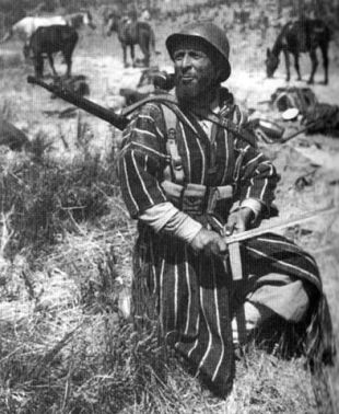 The Germans fought some exotic enemies in Italy, such as this Moroccan Goumier