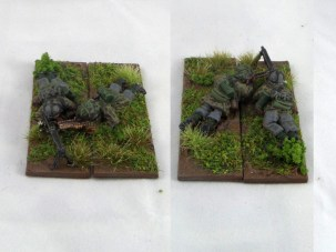 I've mounted several LMG teams on these cavalry bases