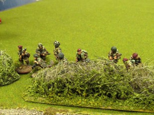 The second British section deploys into the hedge to watch over the objective. We really need to re-flock the club's hedges, don't we?