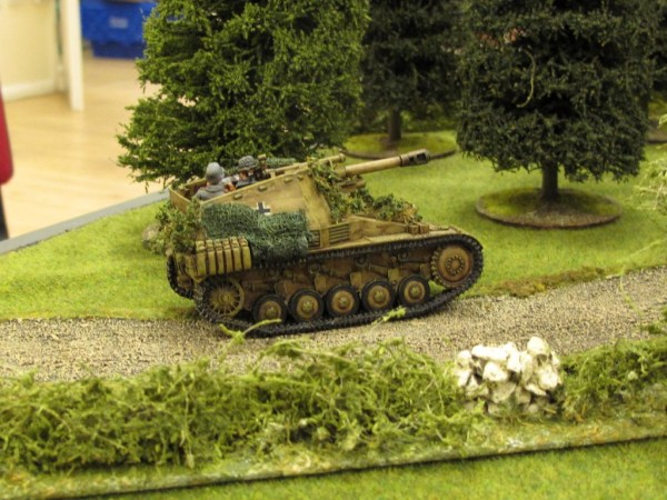 The SP howitzer rolls into action...