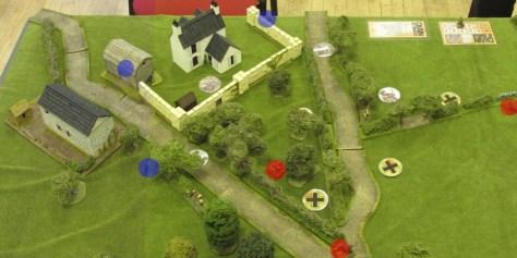 British JoPs in blue, Germans in red