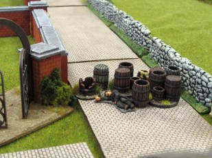 ...and they went straight into action. British roadblock tries to hold up the German armour in game 3 of KvL.