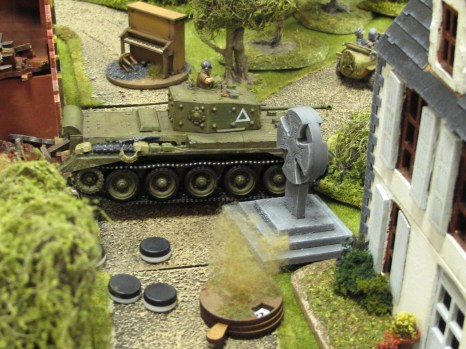 With multiple command and morale tokens on it the Cromwell wasn't able to react