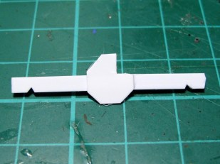 Glue the flat bits onto the angles