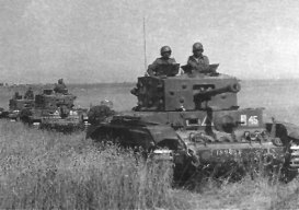Polish Cromwell tanks in Normandy