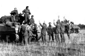 After the defeat Germany had inflicted on the five years earlier, the Poles must have really enjoyed the chance to take German prisoners.