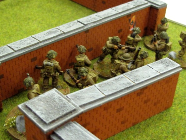 Fresh British troops move up on the German flank