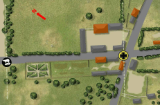"""Attacker/defender is the other way around from as shown on the map. The Brits start 18"""" in from the left, with the Germans attacking from the right"""