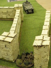 The plucky PIAT crew in their duel with a recce half track