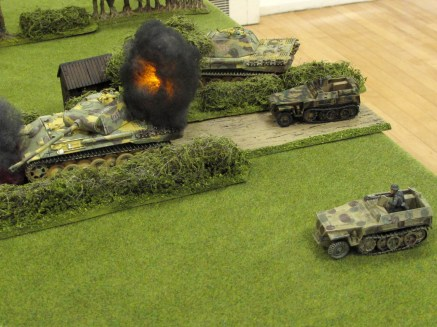 German vehicles piling onto the table
