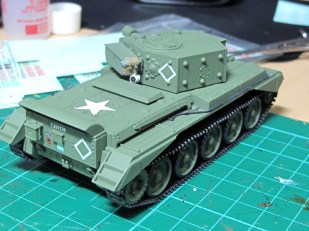 The hull upper and lower joined, and some decals applied