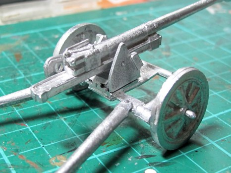 Fit on various parts of the gun cradle is dodgy, the axles stick way out, etc. Not a great kit.