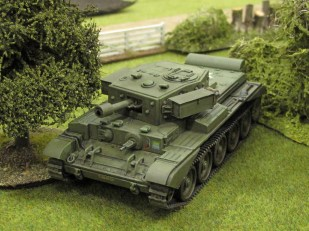 """The """"AVRE"""" moves up to support the infantry assault..."""