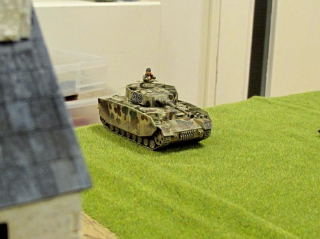 ...and the German Panzer IV rumbles onto the table