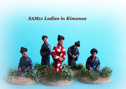 "These would be great if you wanted to represent some samurai disguised as ""ladies"""