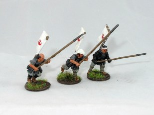 Some Ikko Ikki soldiers with spears