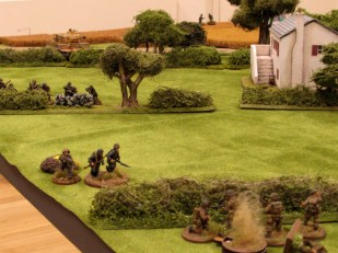 But the supporting fire from the far side of the field and the Tiger continue to punish the British position