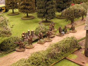 The third British section moves up to try and take the Germans in the flank