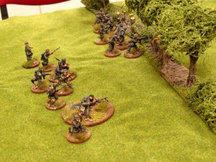 German squads covering each other as they move up