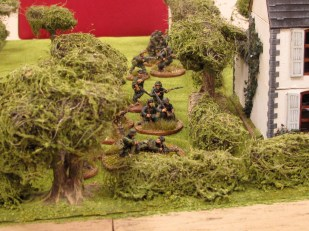 The Germans reach the position from which they can engage the Brits