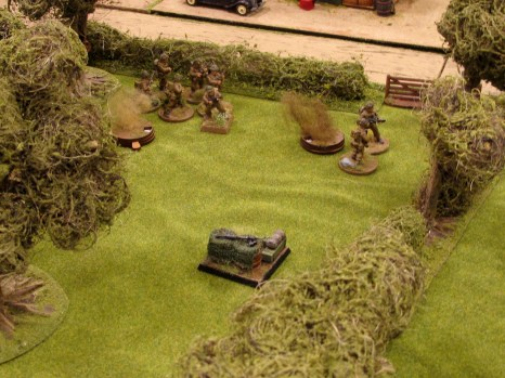 Run away! The British line breaks, leaving only a Bren gun to face the Germans