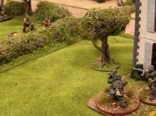 The lead British element gets a battering from a German ambush