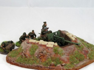 A slightly tired old gun emplacement from Early War Miniatures