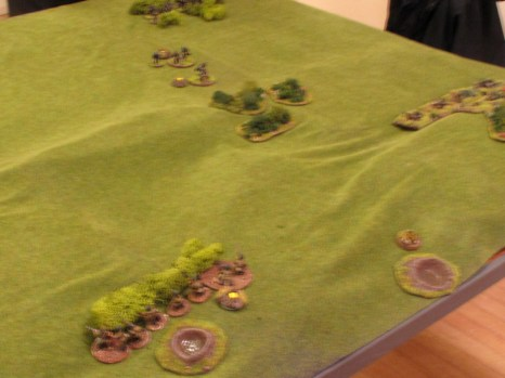 This is a terrible photo, but it does show pretty much the whole battle neatly
