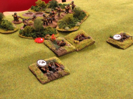 The dug-in Soviet squad had been thoroughly shot to bits, but had friends deploy behind it in support