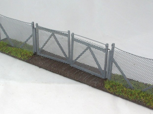 The final version of the gate, painted highlighted and flocked.