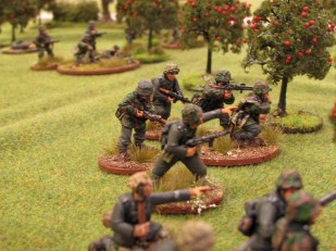 While the first squad engages the British, the second moves up