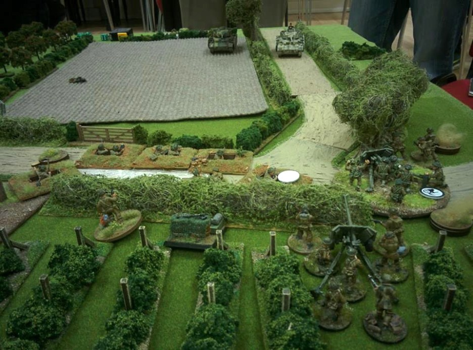 The British gun line bravely holding off the hun. Shame they snuck around the end...