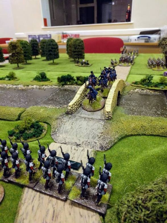 Phils's love Crimea army for SP2. These Cossacks had a good go at getting over the bridge, but the Thin Red Line wasn't having it