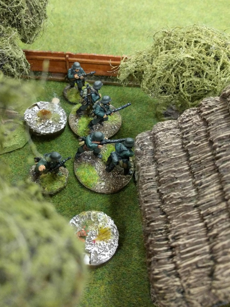 Casualties and shock begin to mount on the Germans!