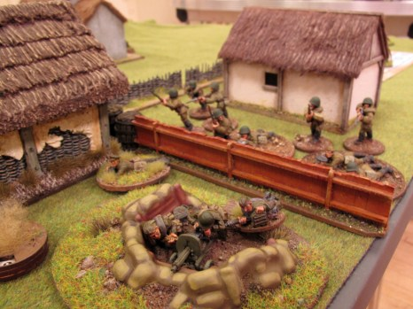 The fight's on! The Soviet blocking force holds its ground against waves of German attackers.