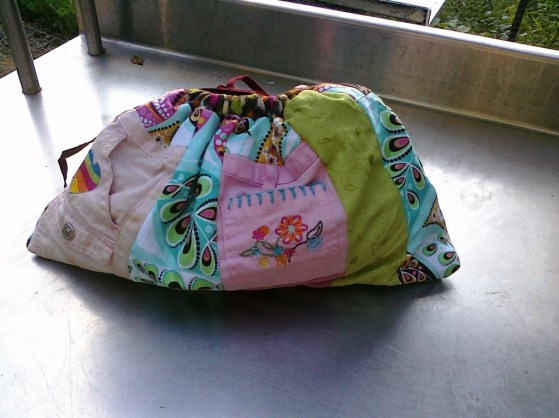 Old Clothes Upcycled to become Ella's Lunch Bag