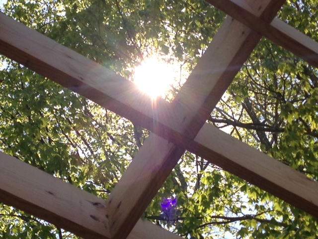 Sun through the second floor floor joists