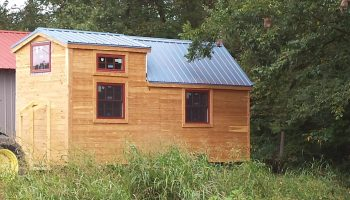 14x40 Lofted Cabin Shell- shed- sheds- portable storage