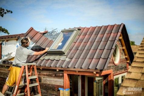 Tiny House Giant Journey Ondura Onduvilla 3D Shingles Roof - 0019