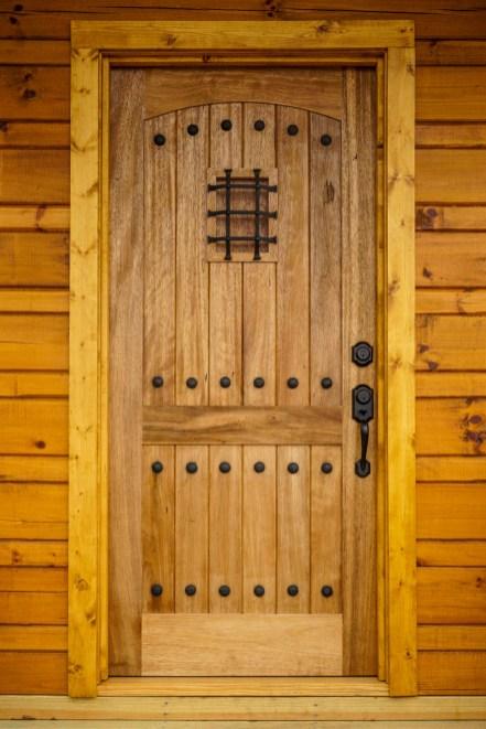 Detail shot of door
