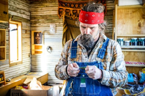 John Makes Jewelry on the Road