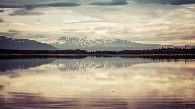 Mt. Edziza Reflecting in Morchuea Lake