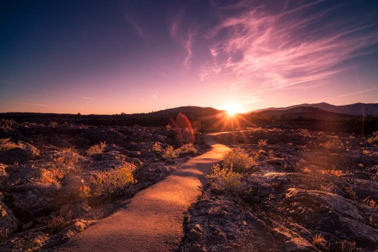 Craters of the Moon Sunset - 0001